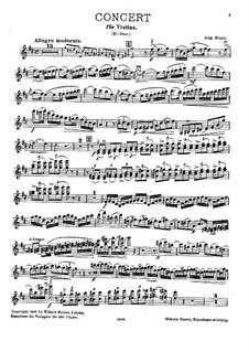 Концерт для скрипки с оркестром ре мажор : Версия для скрипки и фортепиано – партия скрипки by August Enna