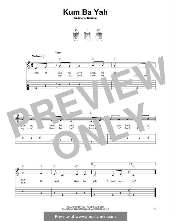 Kumbaya (Kum Ba Yah): Для гитары by folklore