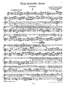 Девять немецких арий, HWV 202-210: Партии скрипки и голоса by Георг Фридрих Гендель