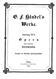 Фарамонд, HWV 39: Партитура by Георг Фридрих Гендель