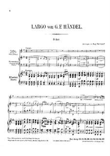 Ларго: Для скрипки, фисгармонии и фортепиано by Георг Фридрих Гендель