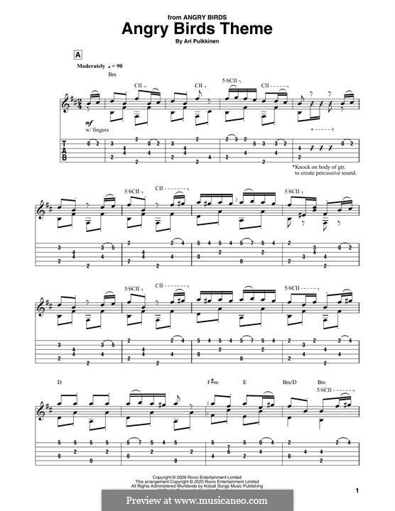 Angry Birds Theme: Для гитары by Ari Pulkkinen