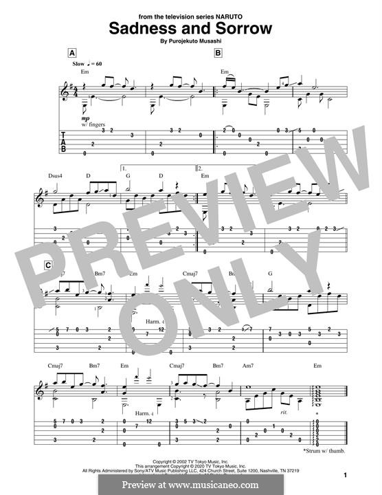 Sadness and Sorrow (from Naruto): Для гитары by Purojekuto Musashi