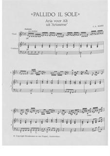 Artaserse: Pallido il Sole, for voice, violin and basso continuo by Иоганн Адольф Гассе