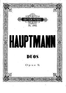 Два концертных дуэта для двух скрипок, Op.2: Скрипка I by Мориц Хауптманн