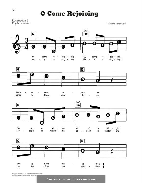 O Come Rejoicing: Для фортепиано by folklore