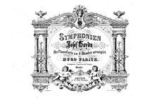 Симфония No.101 ре мажор 'Часы', Hob.I/101: Версия для фортепиано в 4 руки by Йозеф Гайдн