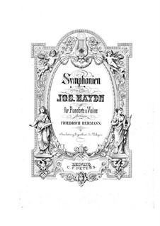 Симфония No.103 ми-бемоль мажор 'С тремоло литавр', Hob.I/103: Версия для скрипки и фортепиано by Йозеф Гайдн