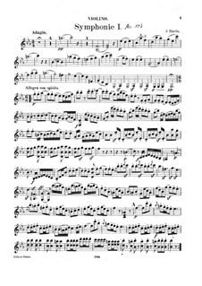 Симфония No.103 ми-бемоль мажор 'С тремоло литавр', Hob.I/103: Версия для скрипки и фортепиано – партия скрипки by Йозеф Гайдн