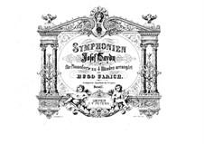 Симфония No.104 ре мажор 'Лондонская', Hob.I/104: Версия для фортепиано в четыре руки by Йозеф Гайдн