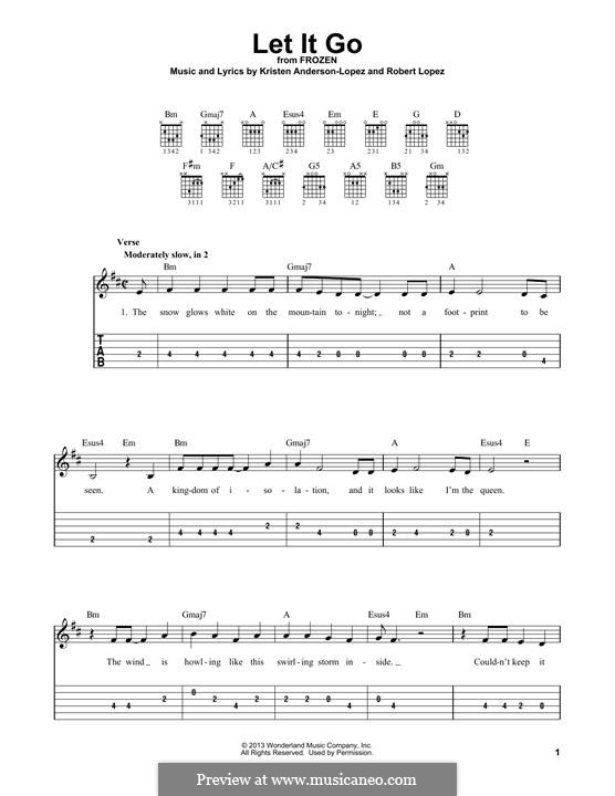 Instrumental version: Для гитары by Robert Lopez, Kristen Anderson-Lopez