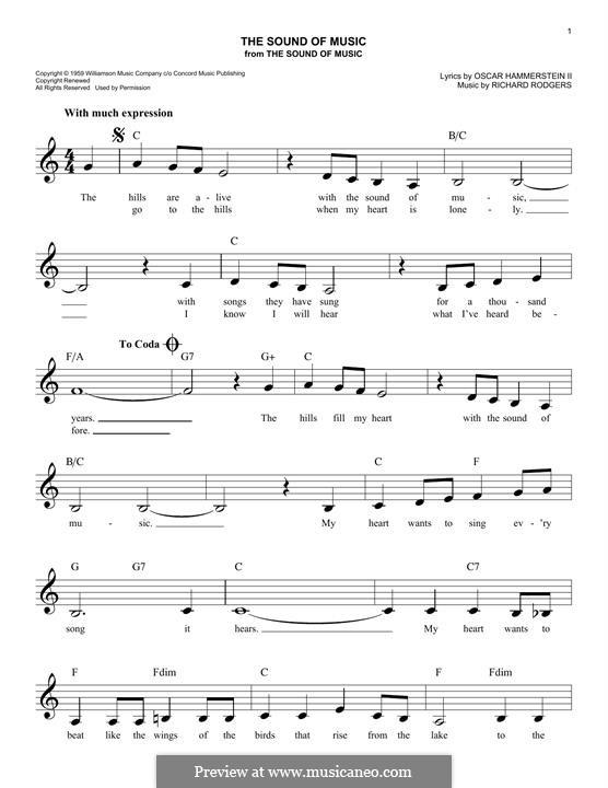 The Sound of Music: Для клавишного инструмента by Richard Rodgers