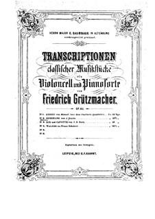 Струнный квартет фа мажор, Hob.III/17 Op.3 No.5: Часть II. Версия для виолончели и фортепиано – Партия виолончели by Йозеф Гайдн