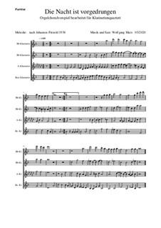 Die Nacht ist vorgedrungen: Klarinettenquartett by Вольфганг Маркс