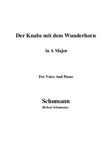 Три стихотворения, Op.30: No.1 Der Knabe mit dem Wunderhorn (A Major) by Роберт Шуман