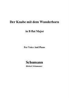 Три стихотворения, Op.30: No.1 Der Knabe mit dem Wunderhorn (B flat Major) by Роберт Шуман