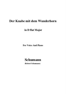 Три стихотворения, Op.30: No.1 Der Knabe mit dem Wunderhorn (D flat Major) by Роберт Шуман