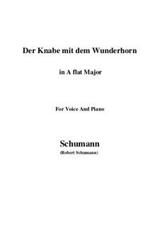 Три стихотворения, Op.30: No.1 Der Knabe mit dem Wunderhorn (A flat Major) by Роберт Шуман
