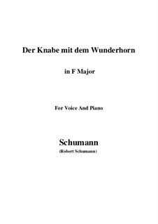 Три стихотворения, Op.30: No.1 Der Knabe mit dem Wunderhorn (F Major) by Роберт Шуман