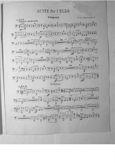 Сюита для виолончели с оркестром, Op.3: Партия литавр by Виктор Герберт