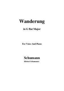 Двенадцать стихотворений для голоса и фортепиано, Op.35: No.7 Wanderung (Wandering) G flat Major by Роберт Шуман