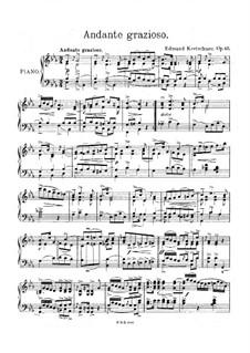 Andante grazioso for Piano, Op.65: Andante grazioso for Piano by Edmund Kretschmer