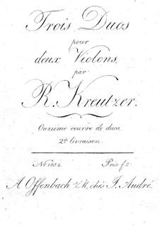 Три дуэта для двух скрипок, Op.11: Партии by Родольф Крейцер