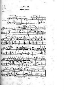 Les rosières: Акт III, для солистов, хора и фортепиано by Фердинанд Герольд