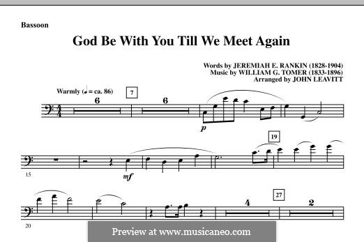 God Be with You Till We Meet Again: Партия фагота by William Gould Tomer