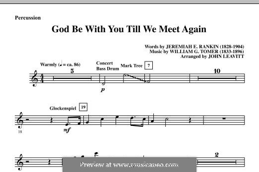 God Be with You Till We Meet Again: Партия ударных by William Gould Tomer