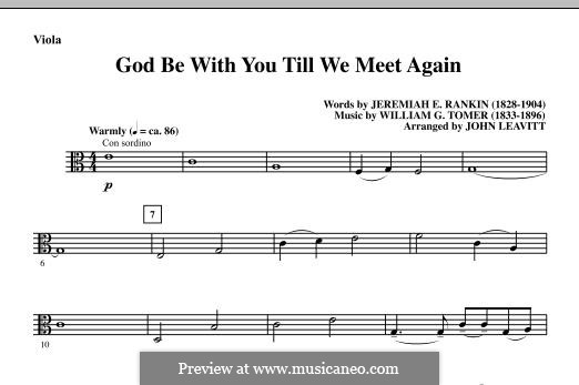 God Be with You Till We Meet Again: Партия альта by William Gould Tomer