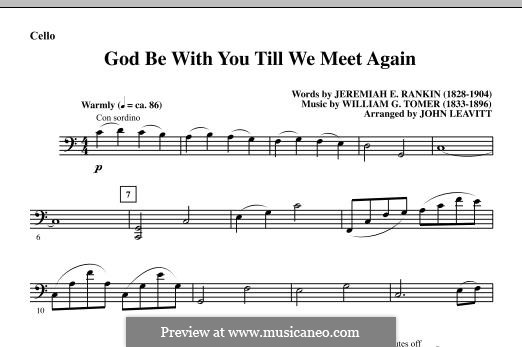 God Be with You Till We Meet Again: Партия виолончели by William Gould Tomer
