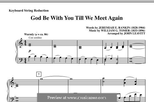 God Be with You Till We Meet Again: Keyboard String Reduction by William Gould Tomer