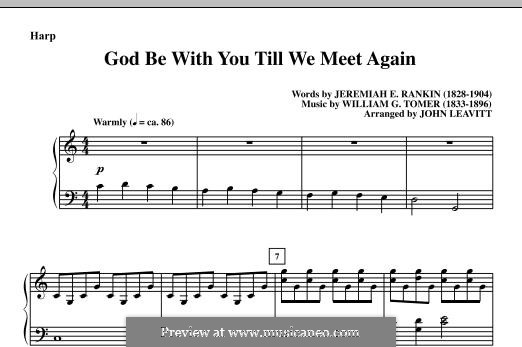 God Be with You Till We Meet Again: Партия арфы by William Gould Tomer