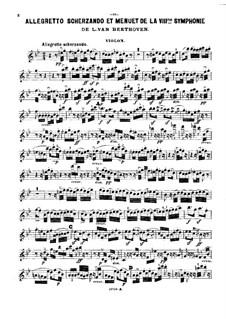 Фрагменты: Части II-III, для фортепианного трио – партия скрипки by Людвиг ван Бетховен