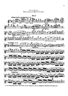 Бенвенуто Челлини, H.76 Op.23: Увертюра – партии гобоев by Гектор Берлиоз