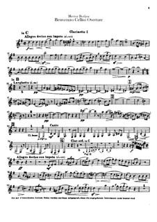 Бенвенуто Челлини, H.76 Op.23: Увертюра – партии кларнетов by Гектор Берлиоз