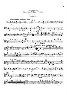 Бенвенуто Челлини, H.76 Op.23: Увертюра – партии тромбонов и тубы by Гектор Берлиоз