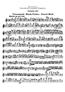 Большая траурно-триумфальная симфония, H.80 Op.15: Партия кларнета in Es by Гектор Берлиоз