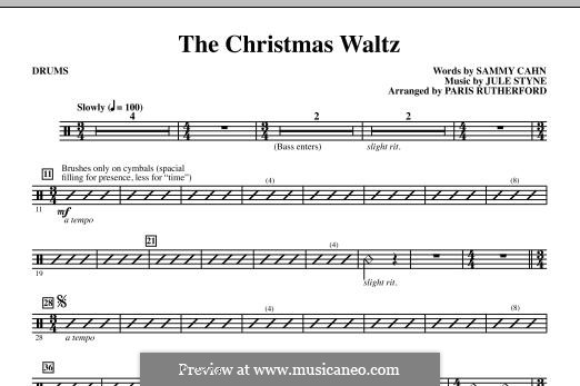 The Christmas Waltz: Drums part by Jule Styne