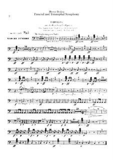 Большая траурно-триумфальная симфония, H.80 Op.15: Партии ударных by Гектор Берлиоз