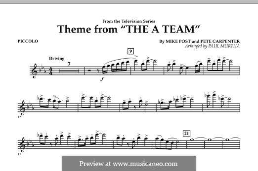Theme from The 'A' Team: Piccolo part by Pete Carpenter
