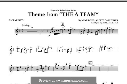 Theme from The 'A' Team: Bb Clarinet 1 part by Pete Carpenter
