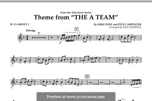 Theme from The 'A' Team: Bb Clarinet 2 part by Pete Carpenter