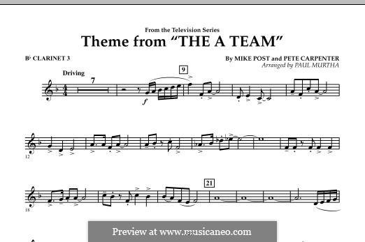 Theme from The 'A' Team: Bb Clarinet 3 part by Pete Carpenter