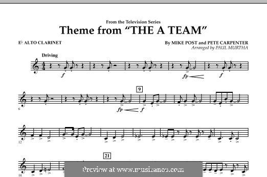 Theme from The 'A' Team: Eb Alto Clarinet part by Pete Carpenter