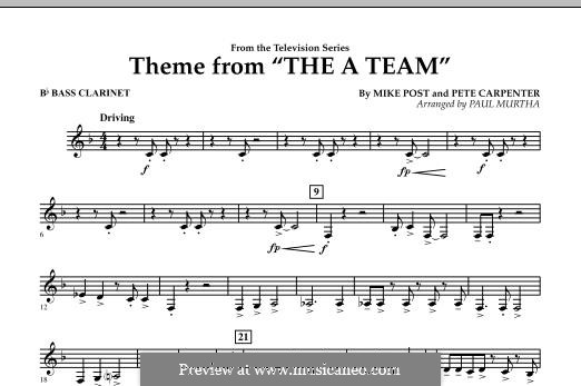Theme from The 'A' Team: Bb Bass Clarinet part by Pete Carpenter