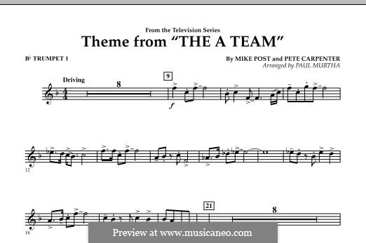 Theme from The 'A' Team: Bb Trumpet 1 part by Pete Carpenter
