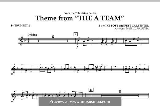 Theme from The 'A' Team: Bb Trumpet 2 part by Pete Carpenter