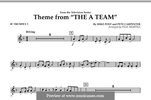 Theme from The 'A' Team: Bb Trumpet 3 part by Pete Carpenter